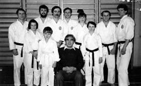 Т.Сато со старшими учениками 1983г.